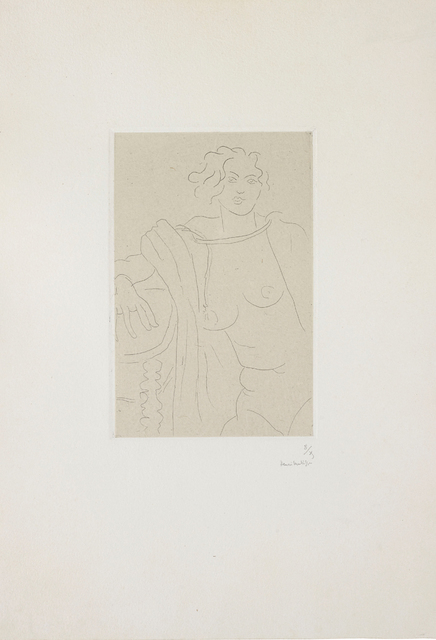 Henri Matisse, 'Figure assise, le bras droit appuyé sur une table ', 1929, Bernard Jacobson Gallery