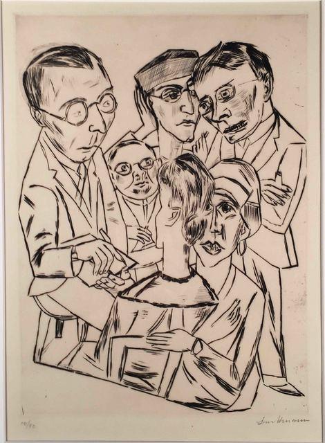 , 'DER ZEICHNER IN GESELLSCHAFT (The Draftsman in Society),' 1922, Edward T. Pollack Fine Arts