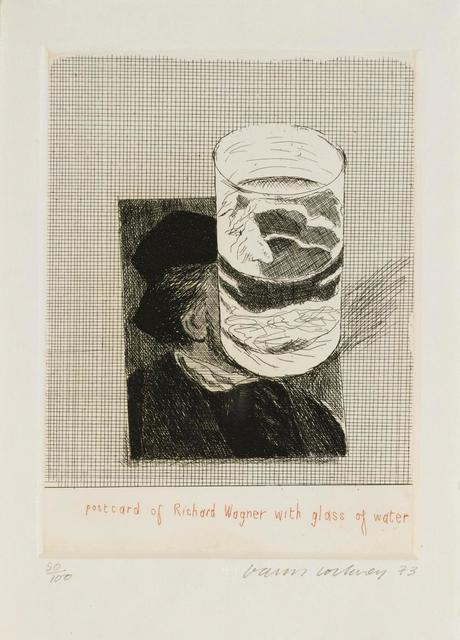 David Hockney, 'Postcard of Richard Wagner with a glass of water ', 1973, Stubbs Fine Art