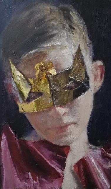 , 'Charles with the mask,' 2017, rosenfeld porcini