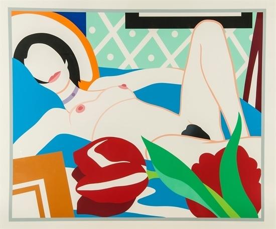 Tom Wesselmann, 'Monica with Tulips', 1989, Gerald Hartinger Fine Arts