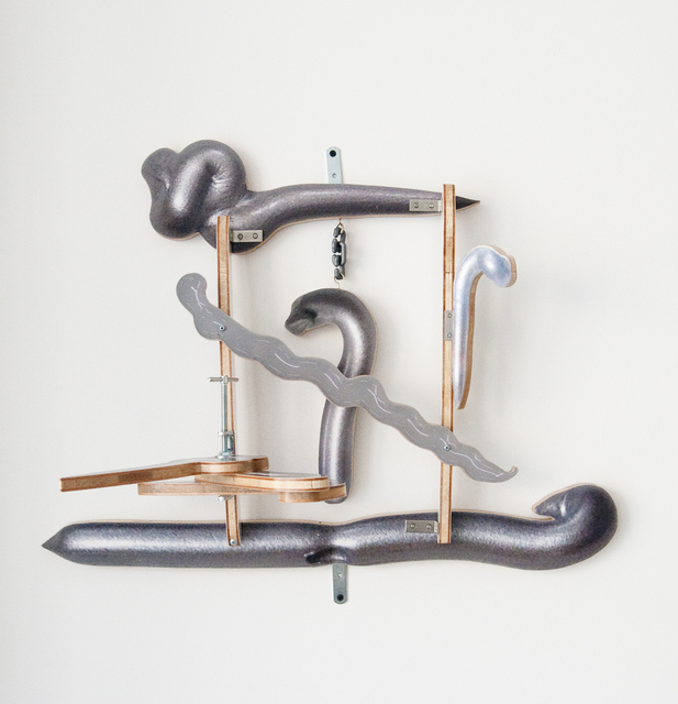 , 'Ghost in the Liquid Room (metal #2),' 2014, Jane Lombard Gallery