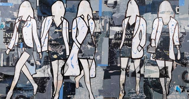 , '5 Walking Girls Blue ,' , Lanoue Gallery