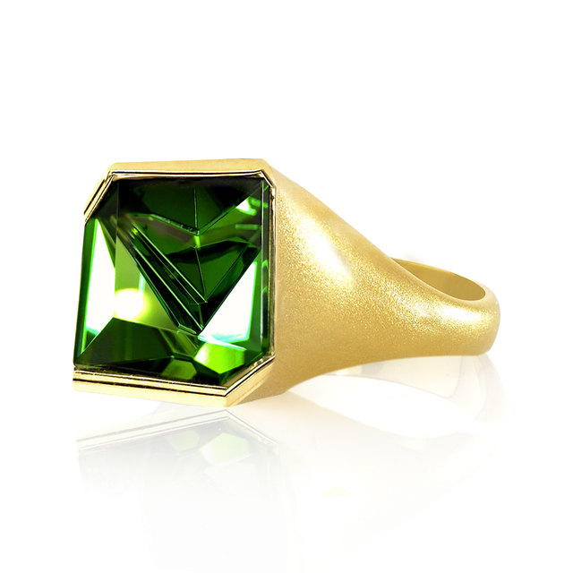 , 'Abstract Cut Green Tourmaline Ring,' 2016, Szor Collections