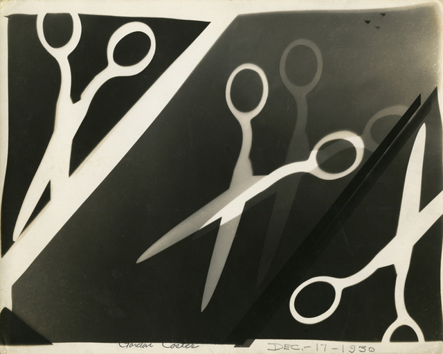 , 'Photogram with scissors,' 1930, Be-hold