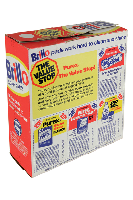 Andy Warhol, 'Brillo Box - Steel Wool Soap Pads - package', 1980 ., Sculpture, Sculpture - Box printed in colored serigraph, Bertolami Fine Arts