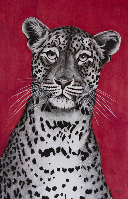 , '7. Leopard on Red,' 2018, Sladmore Contemporary