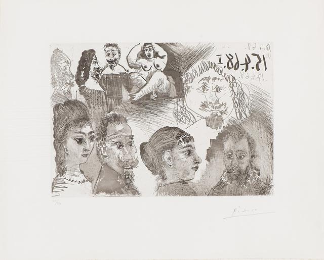 Pablo Picasso, 'Autour d'El Greco et de Rembrandt: Portraits (from 347 Series)', 1968, Larsen Gallery