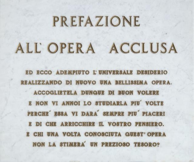 , 'Prefazione all'opera acclusa,' 1971, Galleria il Ponte