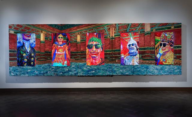 Federico Solmi, 'The Bathhouse', 2020, Video/Film/Animation, Five channel video installation, color, sound, Plexiglass, acrylic paint on wooden frames, Luis De Jesus Los Angeles