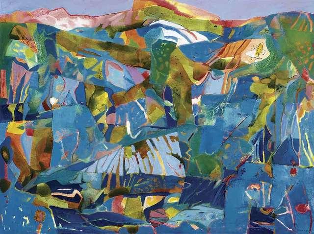 , 'Florentine Blue,' 2018, Catto Gallery