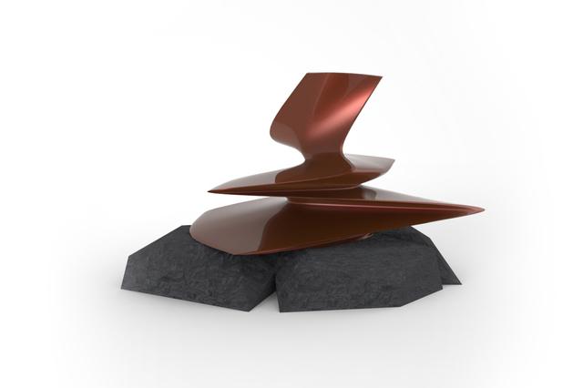 Philip Michael Wolfson, 'Liquid Sculpture', 2014, Sculpture, Fiberglass, stone (dimensions variable)