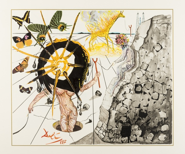 Salvador Dalí, 'Coal Today, Tomorrow, The Day After Tomorrow (M&L 1497-1499)', 1977, Forum Auctions
