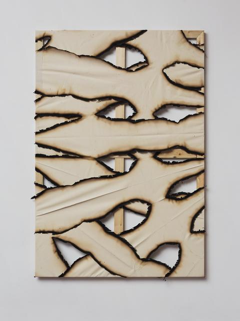 , 'Untitled (Burnt Canvas 6),' 2016, Dvir Gallery
