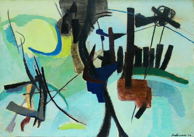 , 'Piccolo ricordo verde,' 1954, Matteo Lampertico
