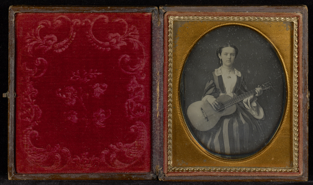 , 'Portrait of Young Girl with a Guitar,' ca. 1850, J. Paul Getty Museum