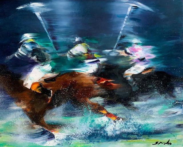 Victor Spahn, 'Joueurs de polo', 2019, Marumo
