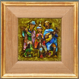 Untitled plaque (Three Musicians), USA