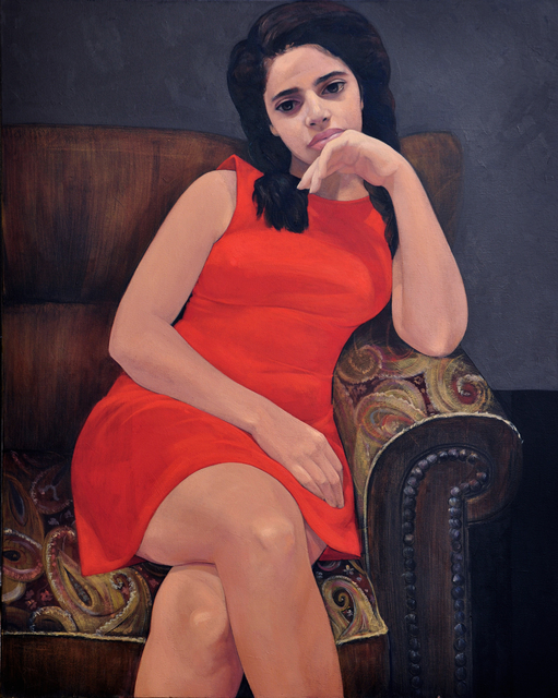 , 'Red Dress,' 2017, al markhiya gallery