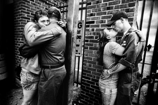 , 'SERVICE: Couples saying goodbye before deployment aboard the USS San Antonio. Norfolk. ,' 2008, Milk Gallery