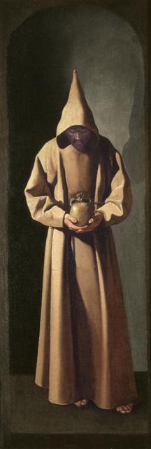 , 'San Francisco de pie contemplando una calavera (Saint Francis Contemplating a Skull),' ca. 1633-1635, Museo Thyssen-Bornemisza