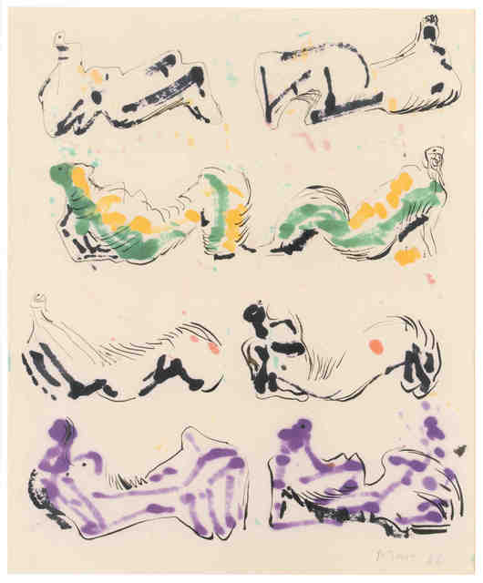 , 'Eight Reclining Figures,' 1966, Tasende Gallery