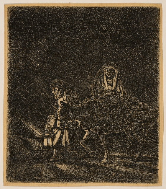 Rembrandt van Rijn, 'The Flight into Egypt: A Night Piece', 1651, Forum Auctions