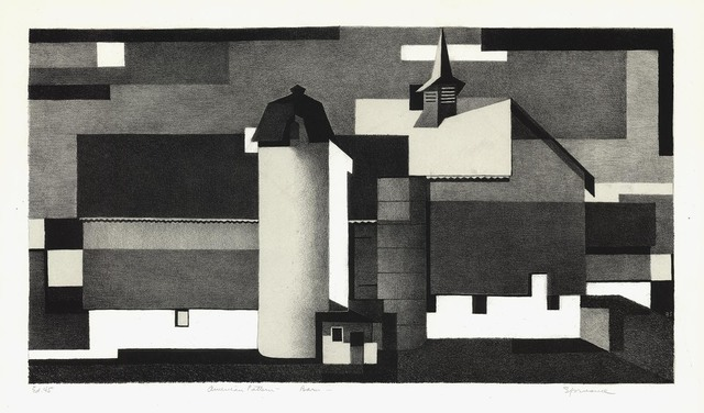 Benton Spruance, 'American Pattern-Barn.', 1940, Print, Two-color lithograph,, The Old Print Shop, Inc.