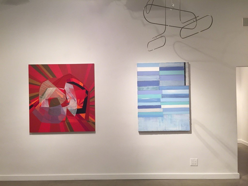 "Alex Couwenberg ""The Pressure of This Little Thrill"" (left) and Mark Zimmermann ""A Question of Innocence"" (right)"