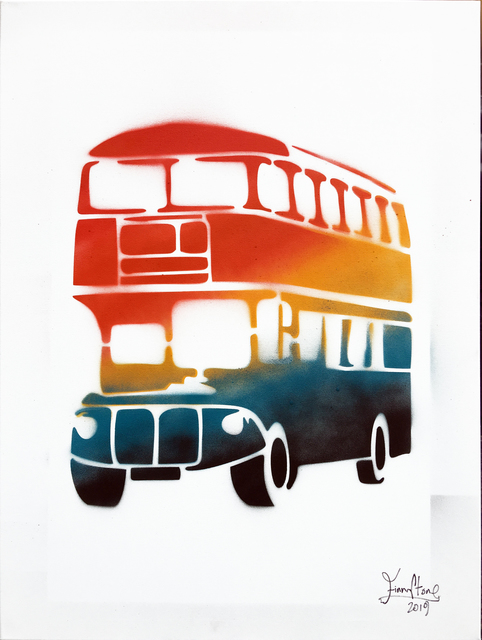 , 'Rainbow graffiti bus,' 2019, Woolff Gallery