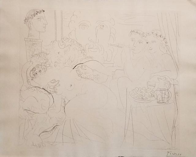 , 'Minotaure caressant une  femme (Minotaur  caressing a woman),' 1933, Baterbys Art Gallery