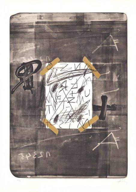 Antoni Tàpies, 'Scotch', 1970-1980, ARTEDIO