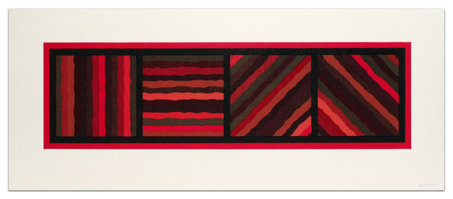 , 'Bands (Not Straight) in Four Directions (Red),' 1999, Alan Cristea Gallery