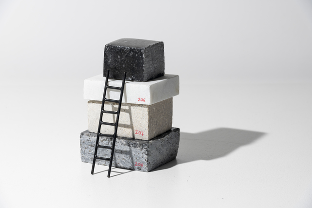 Adeline de Monseignat, 'Stack Sample II', 2019, Sculpture, Marble, Limestone and Patinated Bronze, bo.lee gallery