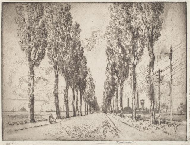 Joseph Pennell, 'The Avenue, Valenciennes', 1910, National Gallery of Art, Washington, D.C.