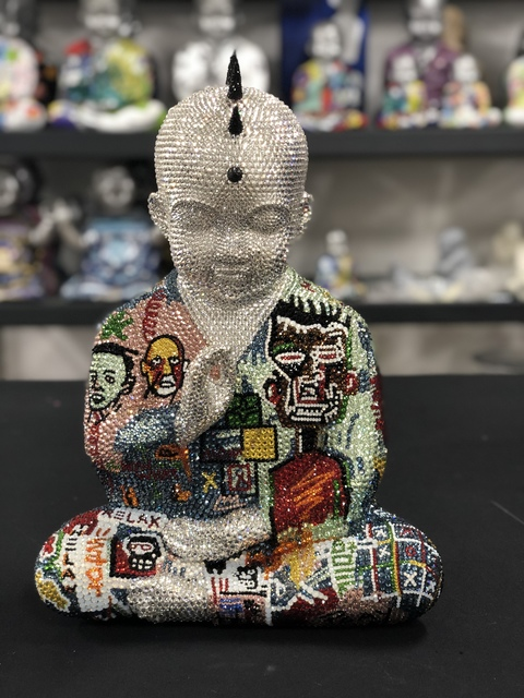 , 'Metis Atash Punk Buddha Relax feat. Basquiat,' ca. 2018, Samuel Lynne Galleries