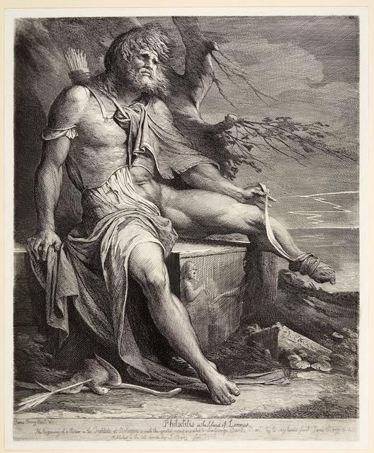 , 'Philoctetes,' 1777, Emanuel von Baeyer