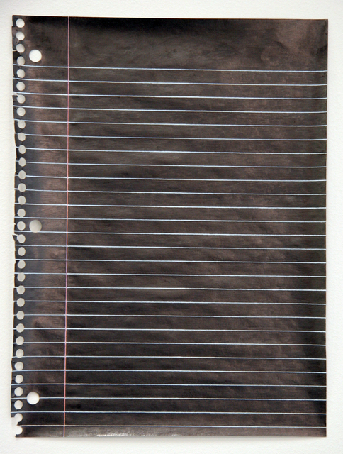 , 'Black Notebook Page,' 2006, The FLAG Art Foundation