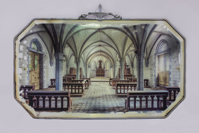 Gina Soden, 'Abandoned Church on Antique Mirror', 2018, Charlie Smith London