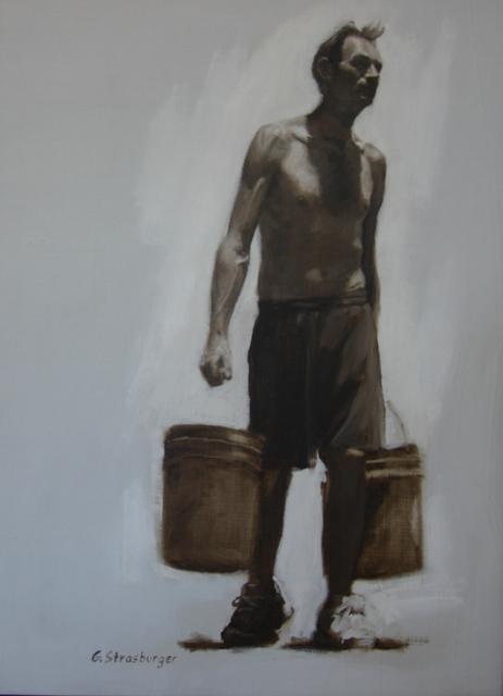 George Strasburger, 'Man Carrying Bucket', 2017, Gallery 2 Sun