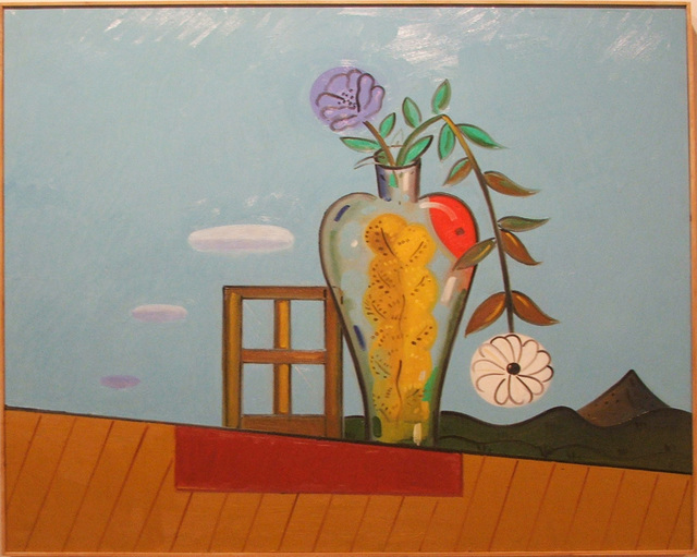 Richard Thompson, 'Still Life with Yellow Tree', 2004, Painting, Oil on wood, William Campbell Contemporary Art Inc