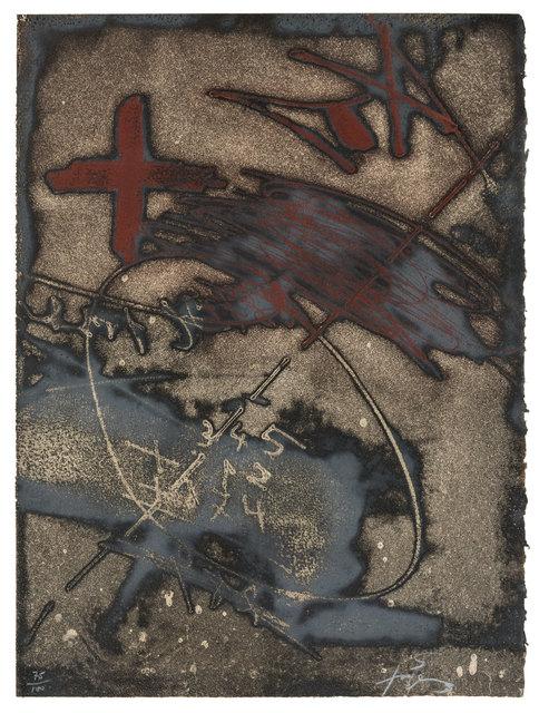 Antoni Tàpies, 'Paroles peintes V', 1975, Print, Etching and aquatint in colour on Arches paper, ArtRite