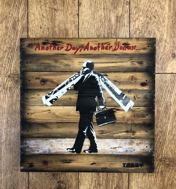 TABBY, 'Tabby: Another Day Another Dollar', 2018, Landmark Street Art