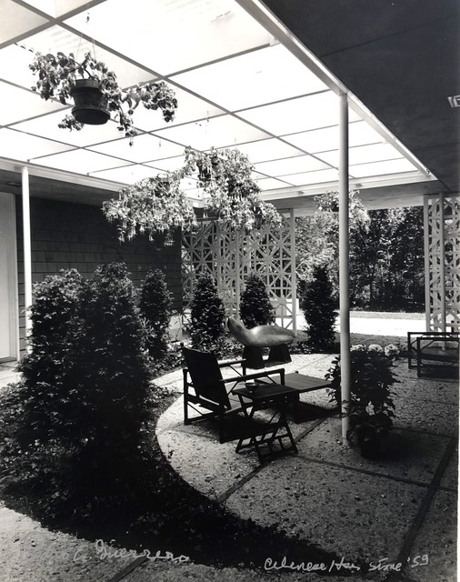 Pedro E. Guerrero, 'Celanese House, New Canaan, CT Edward Durell Stone, Architect (Set of 2 Prints, Foyer and Garden)', 1959, Edward Cella Art and Architecture
