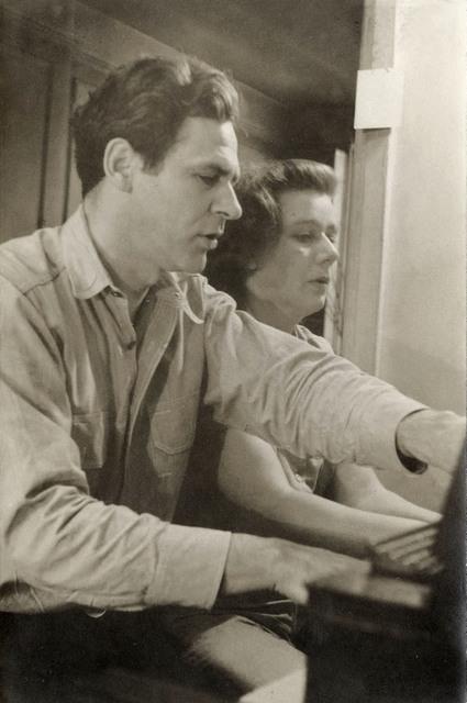 Helen Levitt, 'James and Mia Agee, Greenwich Village', 1945, Laurence Miller Gallery