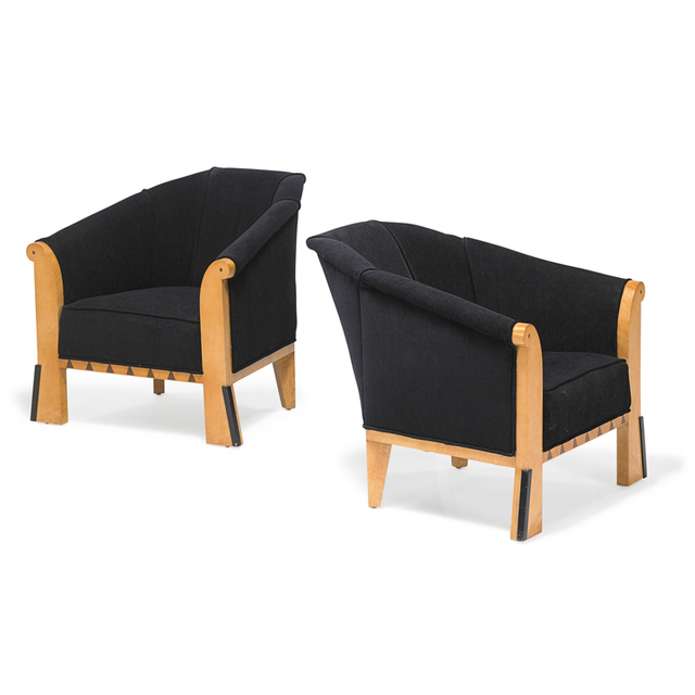Michael Graves (1934-2015), 'Pair of lounge chairs, USA', 1980, Rago