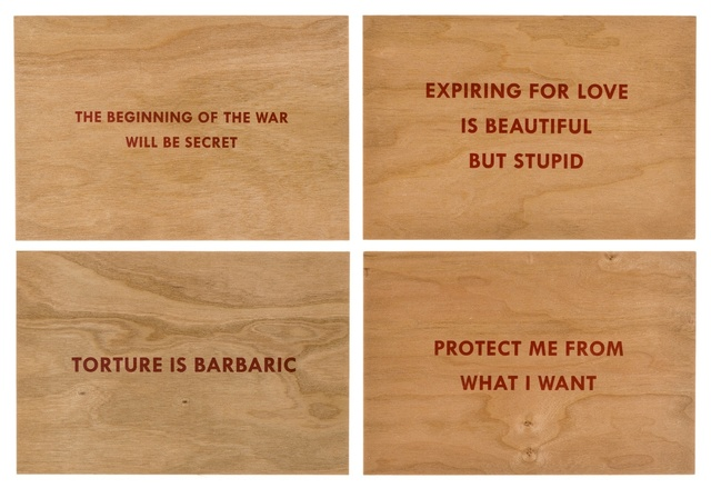 Jenny Holzer, 'Truisms (set of four)', 2018, Print, Four screenprints in red ink, Forum Auctions