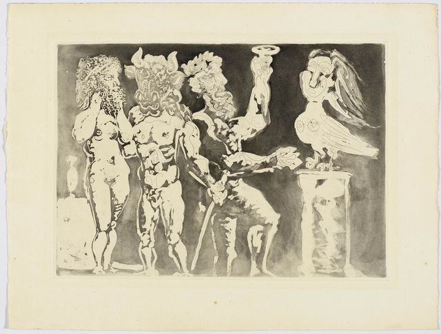Pablo Picasso, 'Personnages masqués et Femme Oiseau', 1934, Koller Auctions