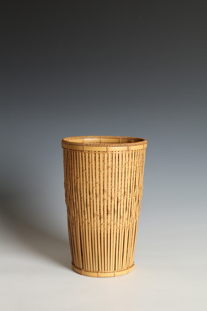 ", '""Rain on Willows"" Cylindrical Flower Basket (T-4153),' , Erik Thomsen"
