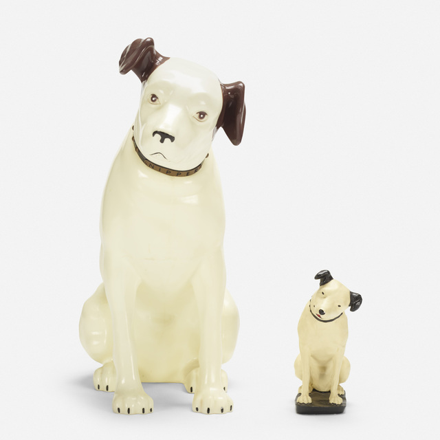 RCA Victor, 'Nipper dogs, set of two', Wright
